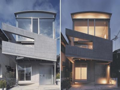 M4 HOUSE概観+夜景-400×300